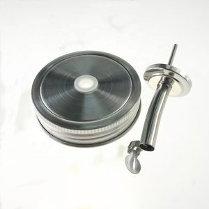 Mason jar oil pouring lids